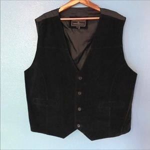 Expressions Contemporary 2X black leather vest